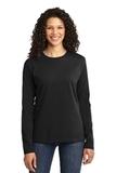 WMC Perinatal Women's Long Sleeve 5.4-oz 100 Cotton T-shirt Jet Black Thumbnail