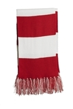 Spectator Scarf True Red with White Thumbnail