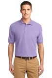 Extended Size Silk Touch Polo Shirt Bright Lavender Thumbnail