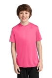 Youth Essential Performance Tee Neon Pink Thumbnail
