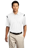 Nike Golf Dri-FIT Shoulder Stripe Polo Shirt White with Black Thumbnail