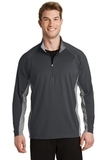 SportWick Stretch Contrast 1/2-Zip Pullover Charcoal Grey with Charcoal Grey Heather Thumbnail