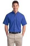 Short Sleeve Twill Shirt Faded Blue Thumbnail
