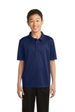 Youth Silk Touch Performance Polo Navy Thumbnail