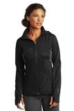 Women's OGIO Endurance Pivot Soft Shell Jacket Blacktop with Gear Grey Thumbnail
