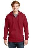 Ultimate Cotton Full-zip Hooded Sweatshirt Deep Red Thumbnail