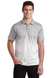 Ombre Heather Polo White with Graphite Thumbnail