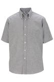 Men's Dress Button Down Oxford SS Black Thumbnail