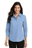 Women's 3/4-sleeve Easy Care Shirt Light Blue Thumbnail
