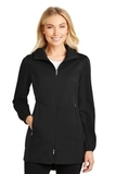 Women's Active Hooded Soft Shell Jacket Deep Black Thumbnail