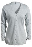 Women's Corporate Performance V-neck Longer Cardigan Grey Heather Thumbnail