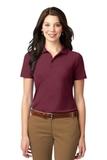 Women's Stain-resistant Polo Shirt Burgundy Thumbnail