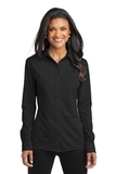 Women's Port Authority Dimension Knit Dress Shirt Black Thumbnail