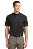Short Sleeve Easy Care Shirt Black with Light Stone Thumbnail