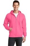 7.8-oz Full-zip Hooded Sweatshirt Neon Pink Thumbnail