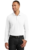 Long Sleeve Core Classic Pique Polo White Thumbnail