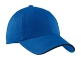 Sandwich Bill Cap With Striped Closure Royal with Black Thumbnail