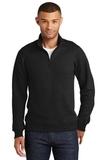 Fan Favorite Fleece 1/4 Zip Pullover Sweatshirt Jet Black Thumbnail