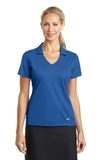 Women's Nike Golf Dri-FIT Vertical Mesh Polo Gym Blue Thumbnail