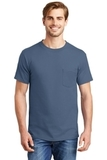 Beefy-t 100 Cotton T-shirt With Pocket Denim Blue Thumbnail