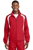 Colorblock Raglan Jacket True Red with White Thumbnail
