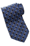 Men's Silk Honeycomb Tie French Blue Thumbnail