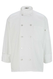 10 Pearl Button Chef Coat White Thumbnail