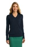 Women's Port Authority V-neck Sweater Navy Thumbnail
