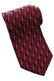 Men's Silk Honeycomb Tie Wine Thumbnail