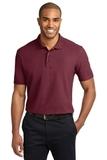 Stain-resistant Polo Shirt Burgundy Thumbnail