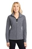 Women's Heather Microfleece Full-Zip Jacket True Navy Heather Thumbnail