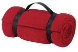 Value Fleece Blanket With Strap Red Thumbnail