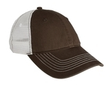 Mesh Back Cap Chocolate Brown with White Thumbnail