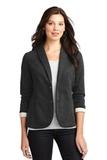 Women's Fleece Casual Blazer Dark Charcoal Heather Thumbnail