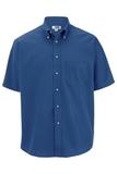 Men's Button Down Poplin Shirt SS French Blue Thumbnail