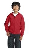 Youth Heavy Blend Full-zip Hooded Sweatshirt Red Thumbnail