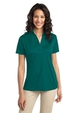 Port Authority Ladies Silk Touch Performance Polo Teal Green Thumbnail