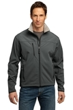 Port Authority Tall Glacier Soft Shell Jacket Smoke Grey with Chrome Thumbnail