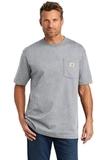 Carhartt Tall Workwear Pocket Short Sleeve T-Shirt Heather Grey Thumbnail