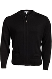 100 Acrylic Zipper Cardigan Black Thumbnail