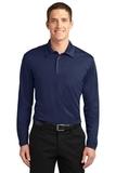 Silk Touch Performance Long Sleeve Polo Navy Thumbnail