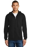 Full-zip Hooded Sweatshirt Black Thumbnail