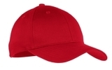 Youth 6-panel Twill Cap Red Thumbnail
