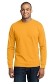 Long Sleeve 50/50 Cotton / Poly T-shirt Gold Thumbnail