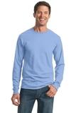Moisture Management 50/50 Cotton / Poly Long Sleeve T-shirt Light Blue Thumbnail