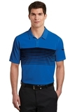 Nike Golf Dri-FIT Chest Stripe Polo Game Royal with Black Thumbnail
