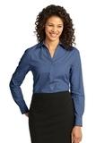 Women's Crosshatch Easy Care Shirt Deep Blue Thumbnail