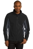 Corevalue Colorblock Soft Shell Jacket Black with Battleship Grey Thumbnail