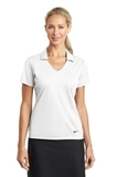 Women's Nike Golf Dri-FIT Vertical Mesh Polo White Thumbnail