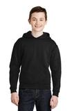 Youth Pullover Hooded Sweatshirt Black Thumbnail